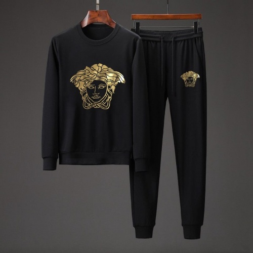 Versace Tracksuits Long Sleeved O-Neck For Men #801871 $82.45 USD, Wholesale Replica Versace Tracksuits