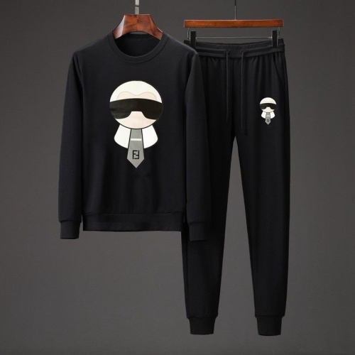 Fendi Tracksuits Long Sleeved O-Neck For Men #801876