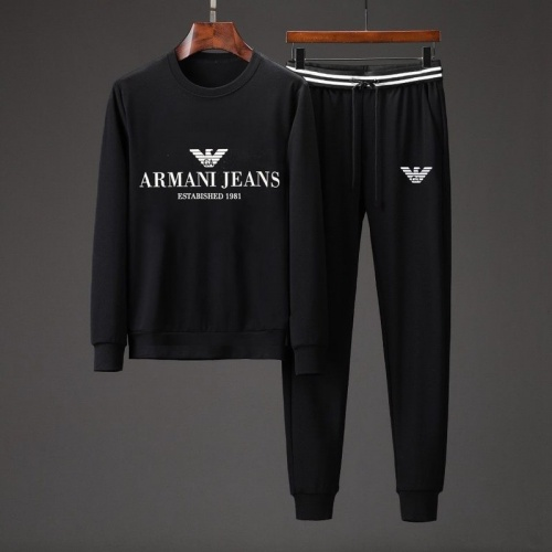 Armani Tracksuits Long Sleeved O-Neck For Men #801883