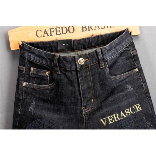 Replica Versace Jeans Trousers For Men #802275 $52.38 USD for Wholesale