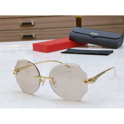 Cartier AAA Quality Sunglasses #802353
