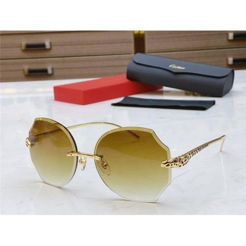 Cartier AAA Quality Sunglasses #802354
