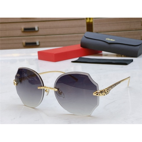 Cartier AAA Quality Sunglasses #802355