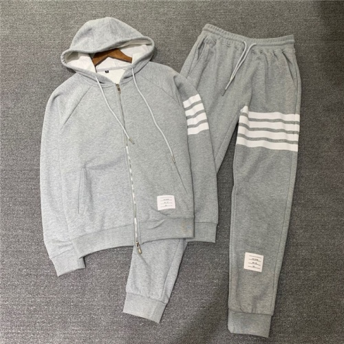 Thom Browne TB Tracksuits Long Sleeved Zipper For Men #802447 $89.24, Wholesale Replica Thom Browne TB Tracksuits