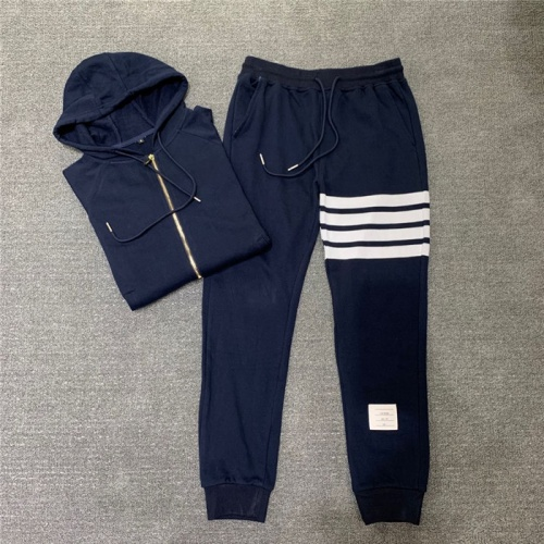 Replica Thom Browne TB Tracksuits Long Sleeved Zipper For Men #802448 $89.24 USD for Wholesale