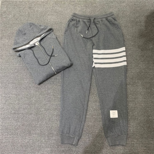 Replica Thom Browne TB Tracksuits Long Sleeved Zipper For Men #802450 $89.24 USD for Wholesale