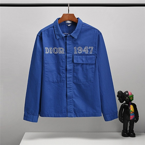 Christian Dior Jackets Long Sleeved Polo For Unisex #802464