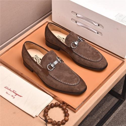 Ferragamo Salvatore FS Leather Shoes For Men #802721