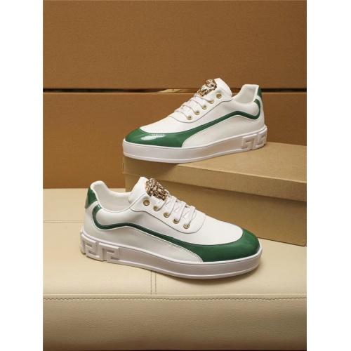 Versace Casual Shoes For Men #802745 $69.84, Wholesale Replica Versace Casual Shoes