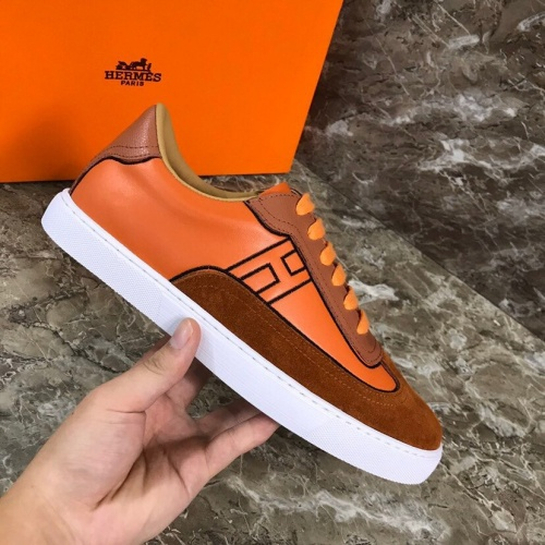 Replica Hermes Casual Shoes For Men #802795 $77.60 USD for Wholesale