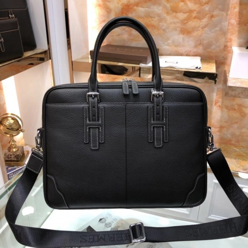 Replica Hermes AAA Man Handbags #803004 $136.77 USD for Wholesale