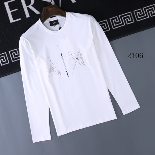 Armani T-Shirts Long Sleeved O-Neck For Men #803079