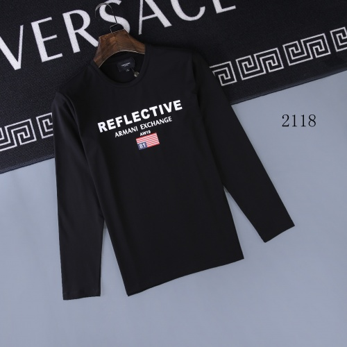 Armani T-Shirts Long Sleeved O-Neck For Men #803083