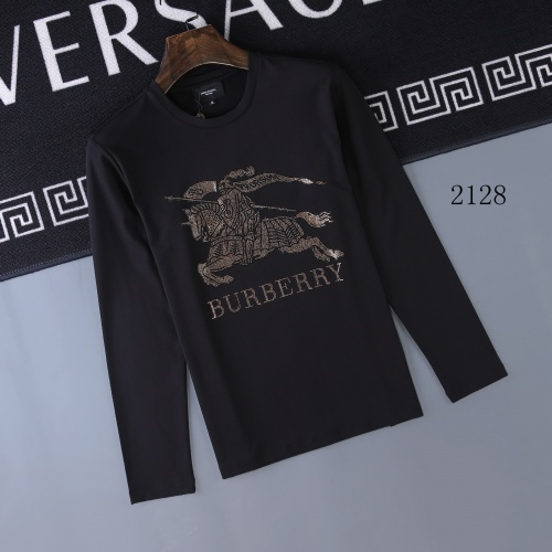 Burberry T-Shirts Long Sleeved O-Neck For Men #803087