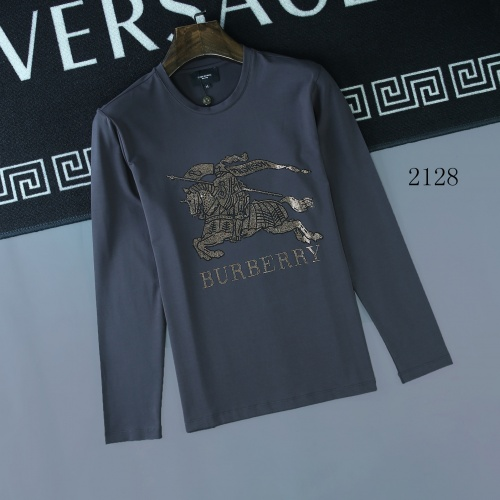 Burberry T-Shirts Long Sleeved O-Neck For Men #803089