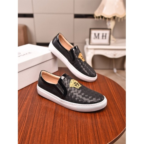 Versace Casual Shoes For Men #803107 $73.72, Wholesale Replica Versace Casual Shoes