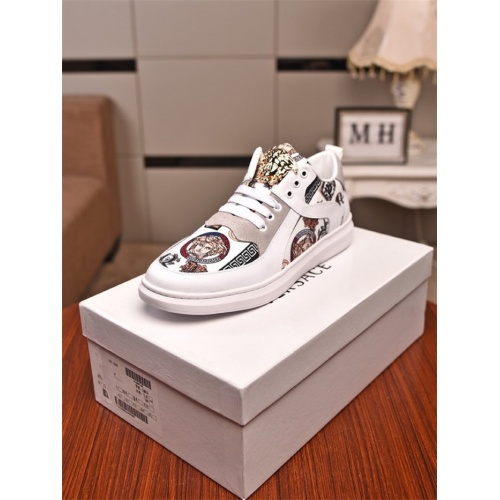 Replica Versace Casual Shoes For Men #803108 $77.60 USD for Wholesale