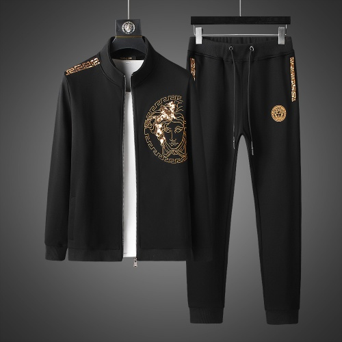 Versace Tracksuits Long Sleeved Zipper For Men #803463