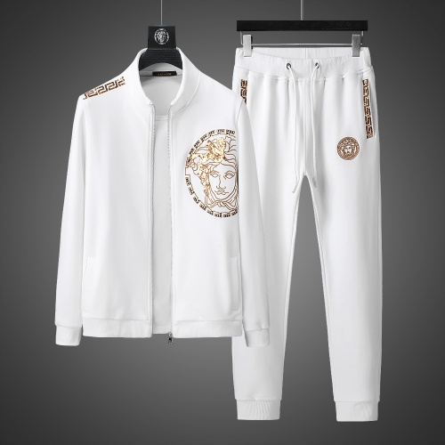 Versace Tracksuits Long Sleeved Zipper For Men #803464