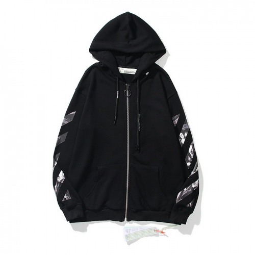 Replica Off-White Hoodies Long Sleeved Hat For Men #803787 $58.20 USD for Wholesale