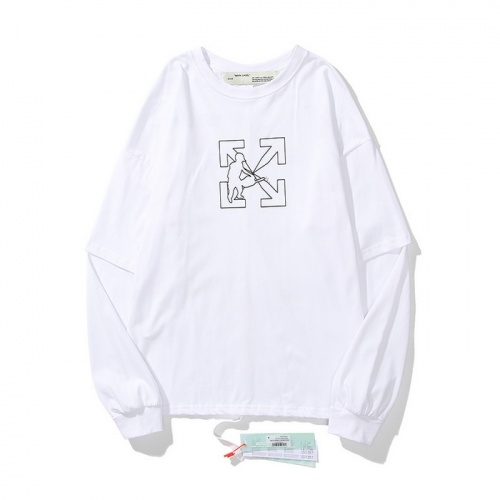 Off-White T-Shirts Long Sleeved O-Neck For Men #803812 $37.83, Wholesale Replica Off-White T-Shirts