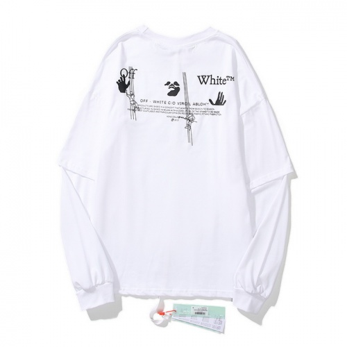 Replica Off-White T-Shirts Long Sleeved O-Neck For Men #803812 $37.83 USD for Wholesale