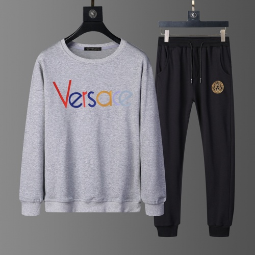 Versace Tracksuits Long Sleeved O-Neck For Men #803893 $62.08 USD, Wholesale Replica Versace Tracksuits