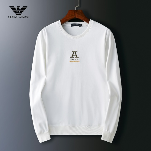 Armani Hoodies Long Sleeved O-Neck For Men #803922