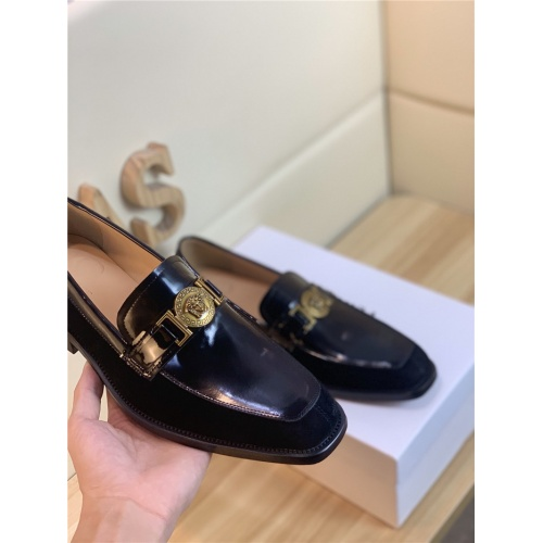 Replica Versace Leather Shoes For Men #803981 $101.85 USD for Wholesale