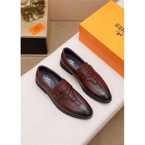 Hermes Leather Shoes For Men #803987 $77.60, Wholesale Replica Hermes Leather Shoes