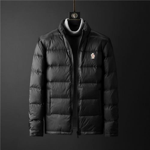 Moncler Down Feather Coat Long Sleeved Zipper For Men #804142 $128.04, Wholesale Replica Moncler Down Feather Coat