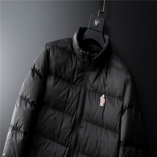 Replica Moncler Down Feather Coat Long Sleeved Zipper For Men #804142 $128.04 USD for Wholesale