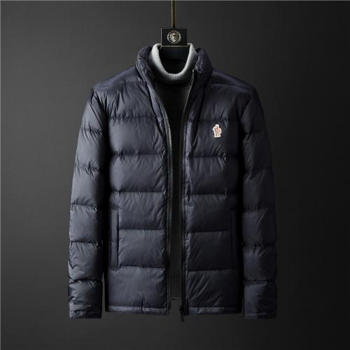 Moncler Down Feather Coat Long Sleeved Zipper For Men #804143