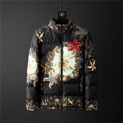 Versace Down Coat Long Sleeved Zipper For Men #804162