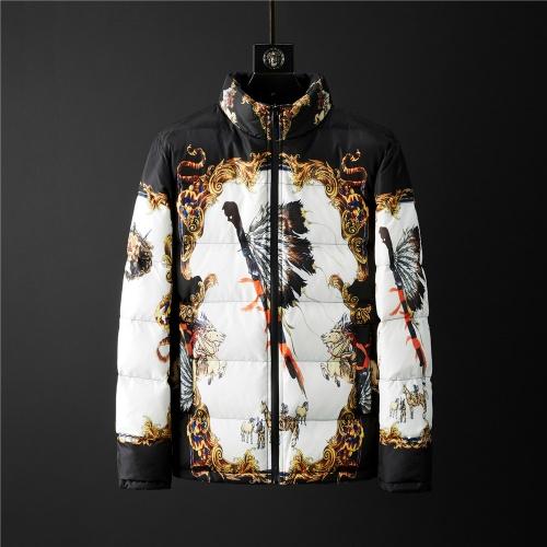 Versace Down Coat Long Sleeved Zipper For Men #804163