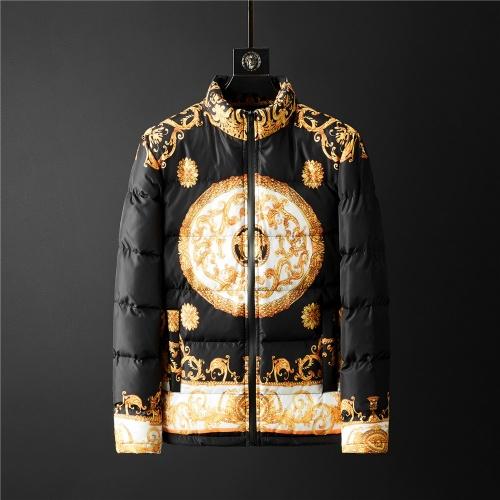 Versace Down Coat Long Sleeved Zipper For Men #804164