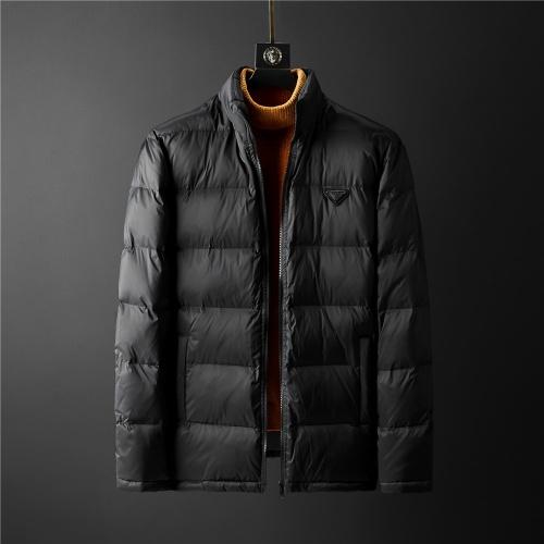 Prada Down Feather Coat Long Sleeved Zipper For Men #804169