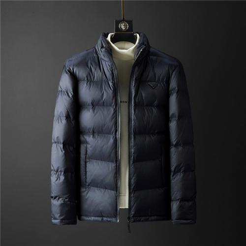 Prada Down Feather Coat Long Sleeved Zipper For Men #804170