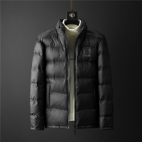 Burberry Down Feather Coat Long Sleeved Zipper For Men #804183 $101.85, Wholesale Replica Burberry Down Feather Coat