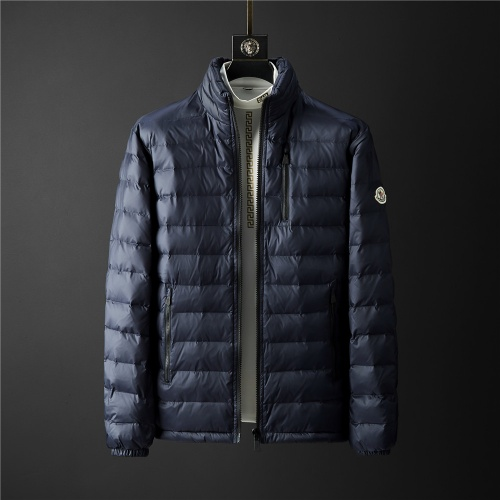 Moncler Down Feather Coat Long Sleeved Zipper For Men #804186