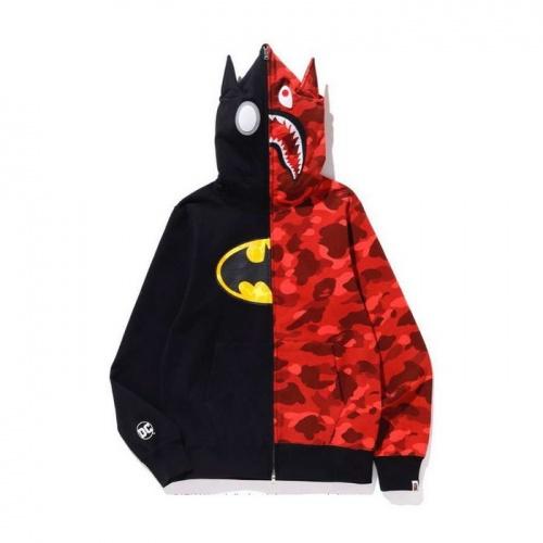 Bape Hoodies Long Sleeved Zipper For Men #804393 $46.56 USD, Wholesale Replica Bape Hoodies