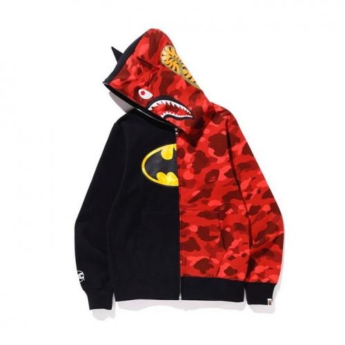 Replica Bape Hoodies Long Sleeved Zipper For Men #804393 $46.56 USD for Wholesale