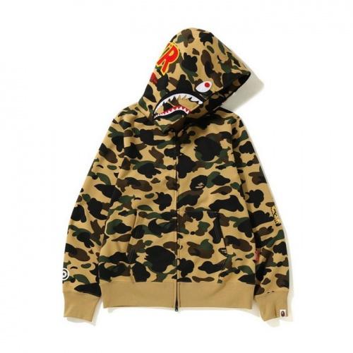 Bape Hoodies Long Sleeved Zipper For Men #804412
