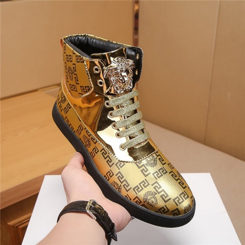 Replica Versace High Tops Shoes For Men #804491 $69.84 USD for Wholesale