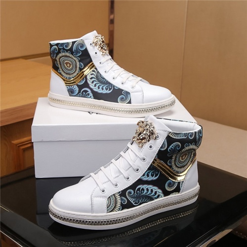 Versace High Tops Shoes For Men #804493