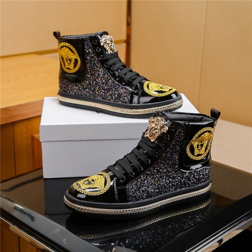 Versace High Tops Shoes For Men #804494