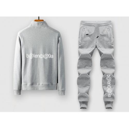 Balenciaga Fashion Tracksuits Long Sleeved Zipper For Men #805370