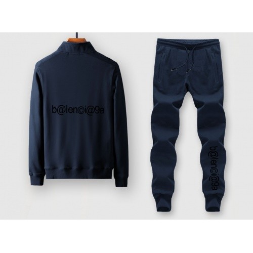 Balenciaga Fashion Tracksuits Long Sleeved Zipper For Men #805372