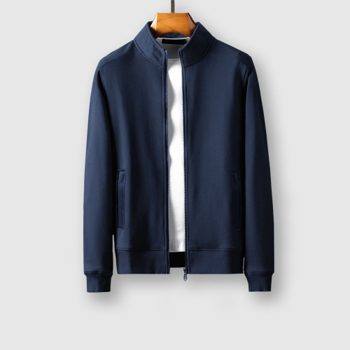 Replica Balenciaga Fashion Tracksuits Long Sleeved Zipper For Men #805372 $79.54 USD for Wholesale
