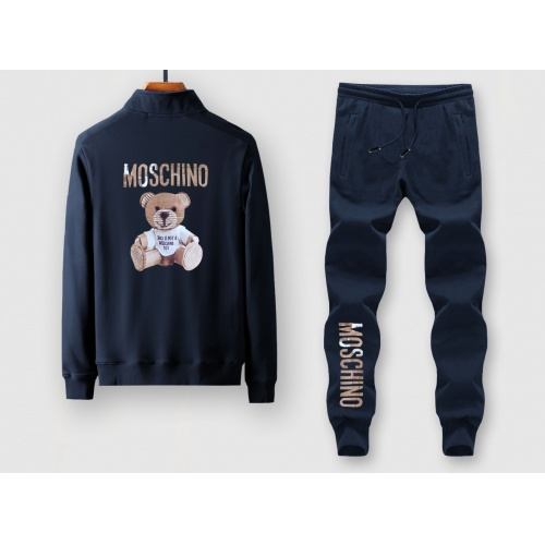 Moschino Tracksuits Long Sleeved Zipper For Men #805378